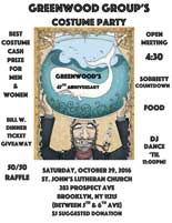 Greenwood Group's 47th Anniversary Costume Party @ St. John's Lutheran Church (where Prospect Group meets) | New York | United States