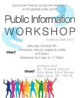 Pubic Information Workshop @ St. Thomas Church Andrew Hall | New York | New York | United States