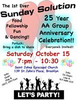 Sunday Solution 25-Year Group Anniversary @ St. John's Episcopal Church | New York | United States