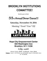 Brooklyn Institutions Committee 33rd Annual Dinner Dance! @ Hope City Empowerment Center | New York | United States