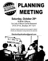 Election Day Alcathon Planning Meeting @ Our Lady of Mt Carmel Church Basement | New York | United States